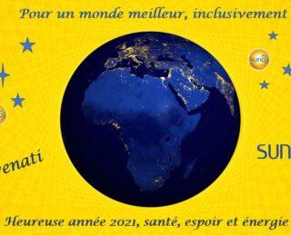 Heureuse année 2021, santé, espoir et énergie